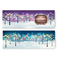 merry christmas and new year holiday banners vector image vector image