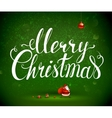 merry christmas inscription and santa claus vector image vector image