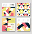 modern colorful abstract geometric covers set vector image vector image