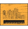 Old shabby skyline condominium vector image vector image