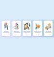 online 3d printing mobile app onboarding screens vector image vector image