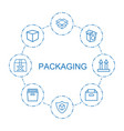 packaging icons vector image vector image