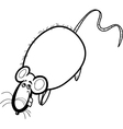 rat cartoon character for coloring book vector image vector image
