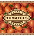 Retro Tomato Harvest Label vector image vector image