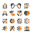 rival icon set vector image vector image