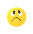 Sad emoticon icon cartoon style vector image vector image