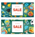School supplies and sale text block vector image