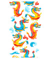 seamless pattern with chinese dragons vector image vector image