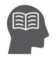 self study glyph icon e learning and education vector image