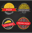 set pizza icon vector image