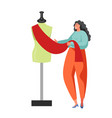 sewing business people flat isolated vector image vector image