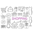 Shopping isolated sketch icons vector image vector image