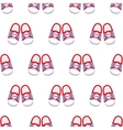 Sneakers seamless pattern vector image