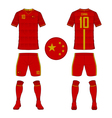 Soccer kit football jersey template for China vector image vector image