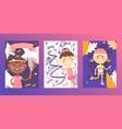 sport section for children active kids cartoon vector image
