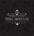 stylish merry christmas card vector image vector image