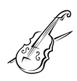 Violin and bow vector image vector image