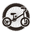 mountain bicycle with wheel vector image
