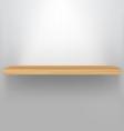 empty wood shelf vector image
