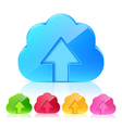 Set of Upload Cloud Icons vector image