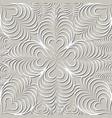 arabic swirl line ornament oriental floral vector image