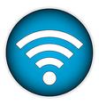 Wi Fi icon button vector image