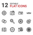 12 focus icons vector image vector image