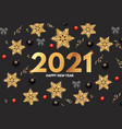 2021 happy new year elegant holiday decoration vector image vector image