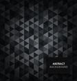 Abstract dark triangular background vector image vector image
