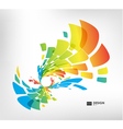Abstract geometric splash on white background vector image vector image