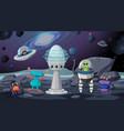 aliens in space scene