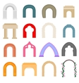 Arch icons set flat style vector image vector image