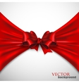 background with red bow vector image vector image