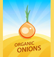 banner template with onion - vegetables trade vector image