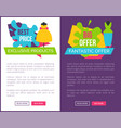 best exclusive products big fantastic offer women vector image vector image