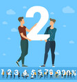 big two number vector image