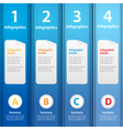 blue folders infographic vector image vector image