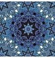 Blue seamless design in oriental style Stellar vector image vector image