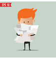 Business man with paper stuff - - EPS10 vector image