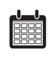 calendar icon sign design style vector image