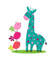 cartoon cute giraffe vector image vector image