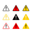 caution icon with triangle form danger sign vector image
