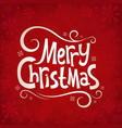 Christmas red background vector image vector image