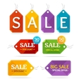 Clothes Sale Labels Set vector image vector image