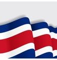 Costa Rican waving Flag vector image vector image