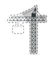 crane machine icon vector image