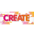 create word design concept modern with abstract vector image vector image