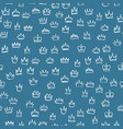 crowns seamless pattern hand drawn texture with vector image vector image