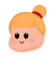 cute happy girl avatar vector image vector image