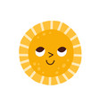 cute sun character with happy smiling face vector image vector image